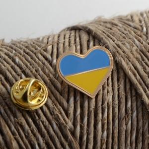Значок Сердце Украины мини
