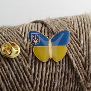 Значок Бабочка с Гербом Украины