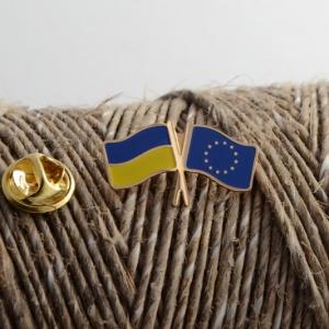 Значок Прапори України/ЄС