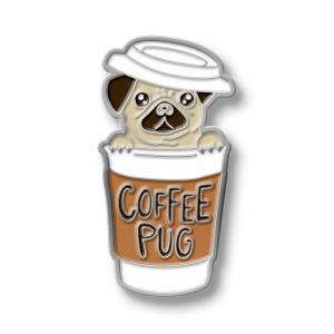 Значок Coffee Pug