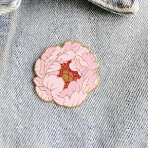 Значок Розовый Пион