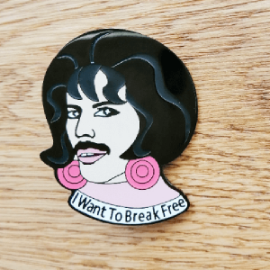 Значок Freddie Mercury.  I Want to Break Free