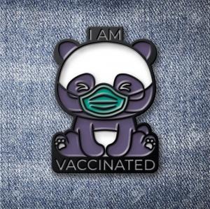 Значок Панда I am Vaccinated