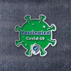 Значок Vaccinated Covid-19 Green